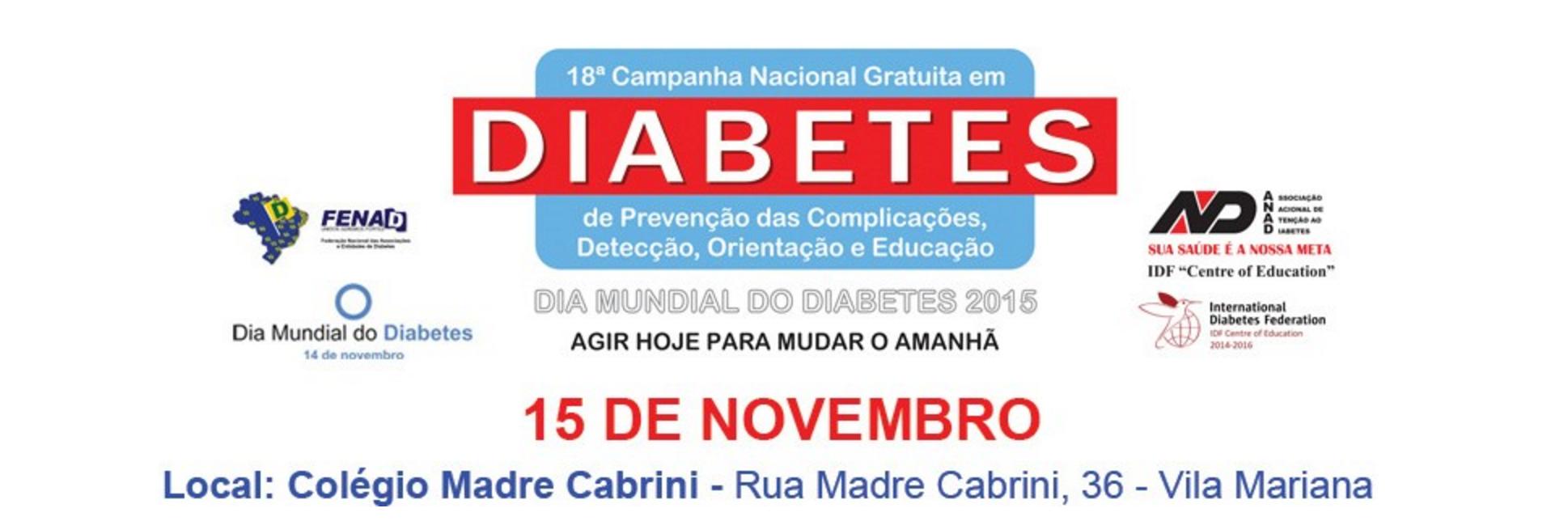 Amanhã a ANAD realizará testes gratuitos de glicemia para o publico
